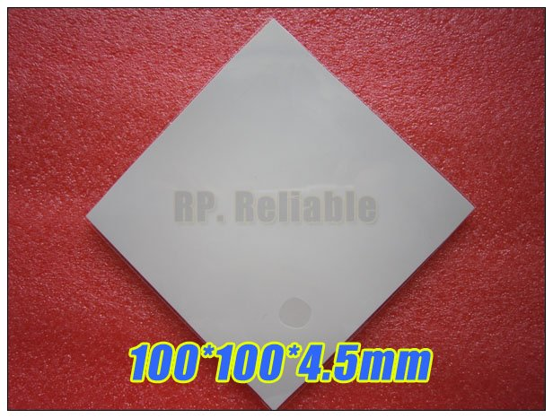 100*100*4.5mm Soft Silicone Thermal Pad /Thermal Pads for Heatsink /Chipset LED Gap Insulation Sealing Lower Vibration 100