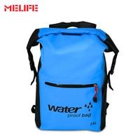 MELIFE 25L High Quality PVC Waterproof Bag Bucket Ultralight Camping Hiking Dry Backpack Beach Drifting Dry Swimming Bags