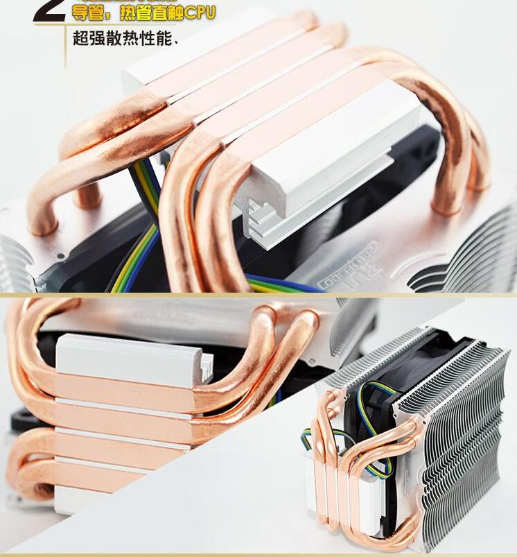 CoolerBoss CAH 409 09 4PIN CPU cooler 9cm fan 4 heatpipe cooler 775 1150 1151 115x