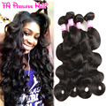 Brazilian Virgin Hair Queen Hair Body Wave 4 Piece Bundles 100 Percent Virgin Brizillian Human Hair Weave Mealid Hair Body Wave