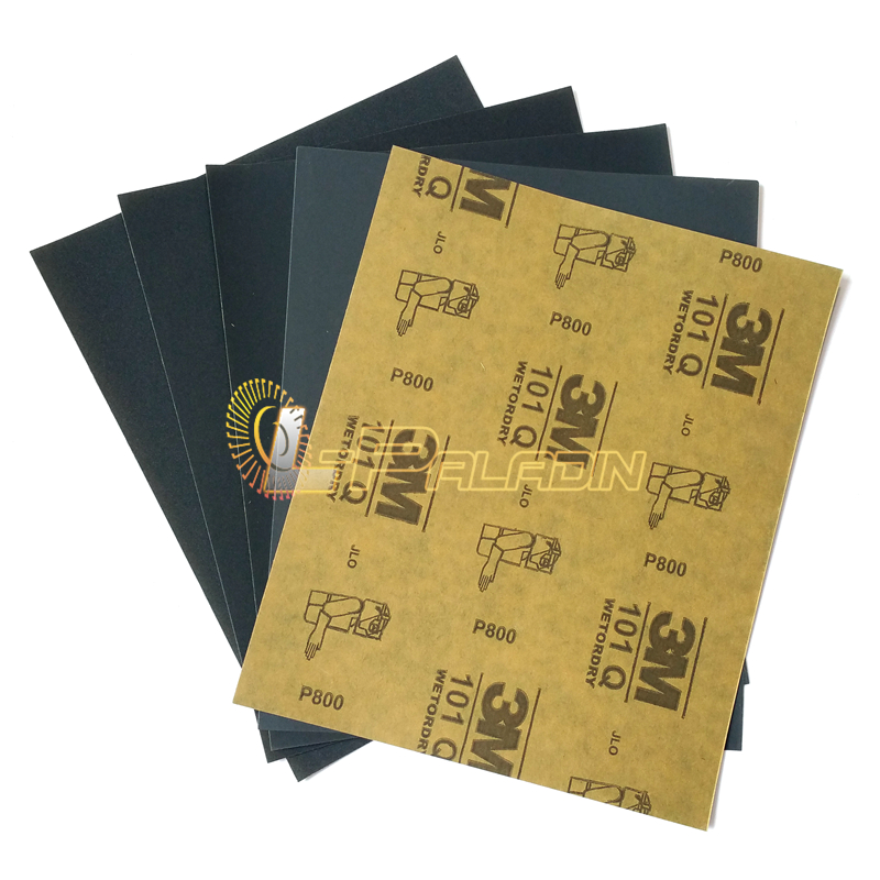 30 Pieces Waterproof Sandpaper 101Q Metal Furniture Instrument Paint Grinding Polishing Abrasive Paper P400 P600 P800