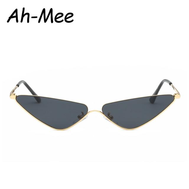 14a464074dae Retro Small Cat Eye Sunglasses For Women Brand Designer Metal Half Frame  Shade Triangle Eyeglasses Vintage