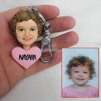 custom keychain with logo and name real person face kids statue figurine christmas new year valentine father's day gifts present