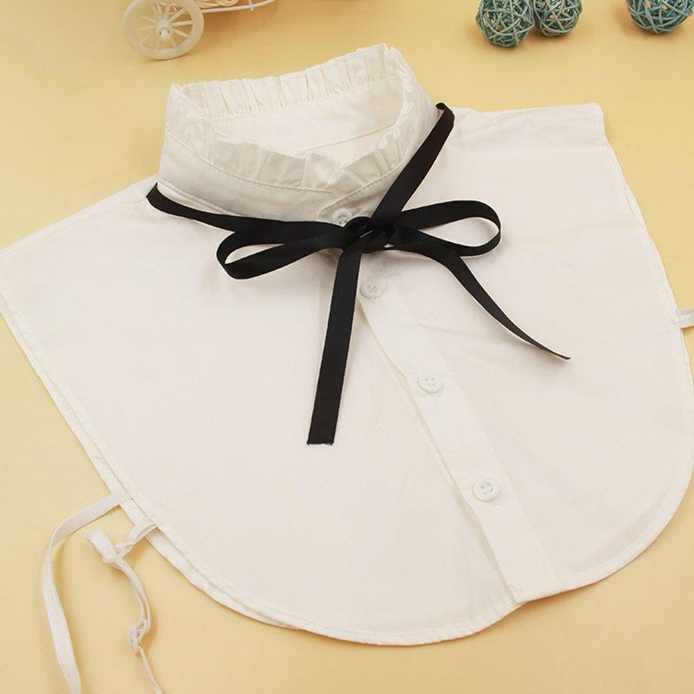 Women Shirt Fake Collar Vintage Detachable High Neck Bowknot False Blouse Top Collars Women Clothes Accessories WML99