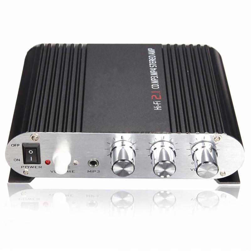 Новый автомобиль Усилители домашние 200 Вт 12 В мини Hi-Fi Усилители домашние сабвуфер усилитель Радио MP3 2-канальный стерео для автомобиля мотоц...
