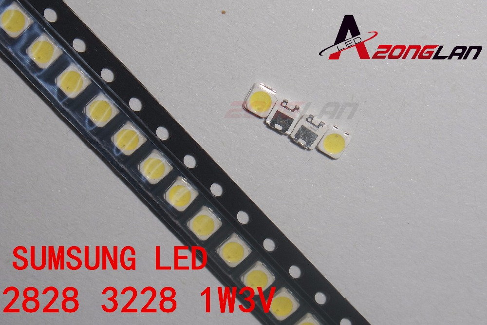 200PCS FOR  SAMSUNG 2828 LED Backlight TT321A 1.5W-3W With Zener 3V 3228 2828 Cool White LCD Backlight For TV TV Application