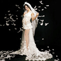 Фотосессии беременности и родам Платье С Длинным Кружева Прозрачный Белый Материнства Платье Фотографии Реквизит Платья Беременность Одежда Для Беременных