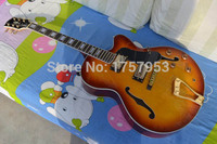 Factory Custom Shop 2017 New L 5 L5 Jazz Guitar F Semi Hollow Sunburst Color Electric