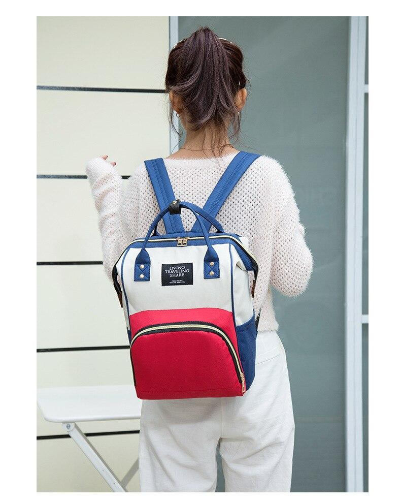 HTB1KwHbXBCw3KVjSZR0q6zcUpXa3 Multi-Function Mummy Maternity Nappy Bag Fashion Patchwork Large Capacity Baby Bag Travel Backpack Nursing Bag for Mom Designer
