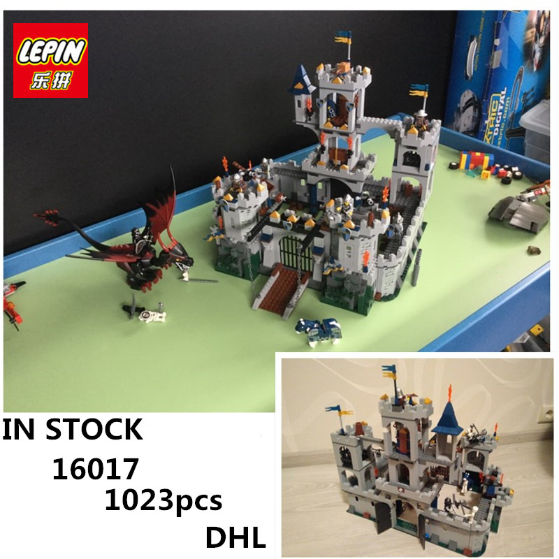 DHL IN STOCK H&HXY 16017 1023pcs Castle Series The King\'s Castle Siege LEPIN Building Block Compatible 7094 Brick Toy movie series king castle battle siege set model building block bricks toys compatible legoings city castle 7094