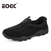 Fashion Flock Outdoor Men casual shoes High quality suede leather shoes Men size 39 46 Comfortable Men Shoes Mans Footwear