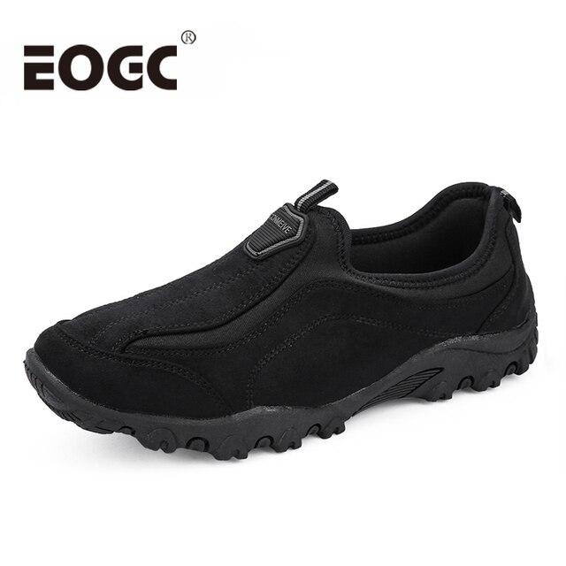 Fashion Flock Outdoor Men casual shoes High quality suede leather shoes Men size 39-46 Comfortable Men Shoes Mans Footwear