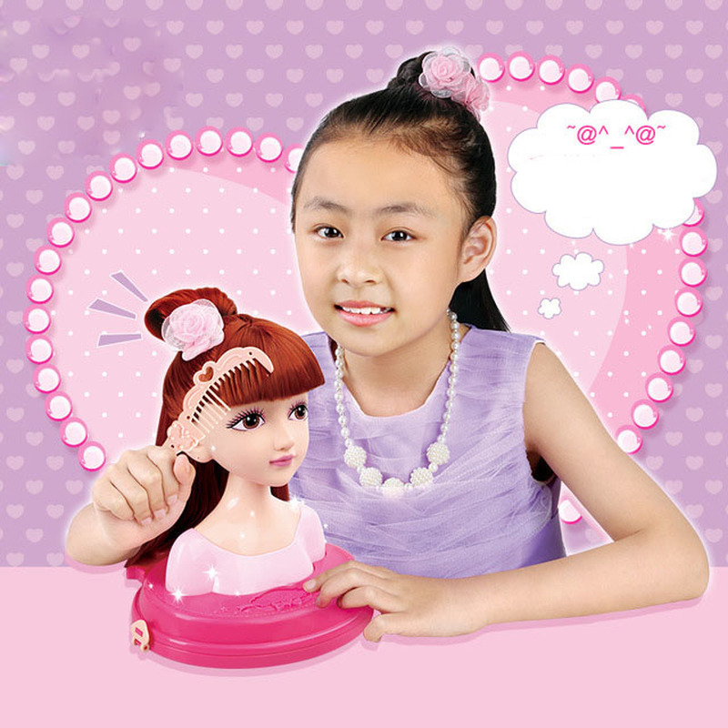 Fashion Hair Stylist Doll Makeup Tiara Practice Comb Head Tie Scorpion Girl Play House Toy Girl Puzzle Toy Gift in Beauty Fashion Toys from Toys Hobbies