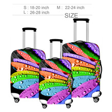 Floral Prints Travel Suitcase Cover For 18-28 Trolley Rolling Luggage Protective Dust Covers Bag