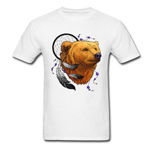 Latest Design T-shirts Cheap Mens Good Quality Brand Teeshirt Round Neck Indian Bear Pure Cotton Tops Tees Printed