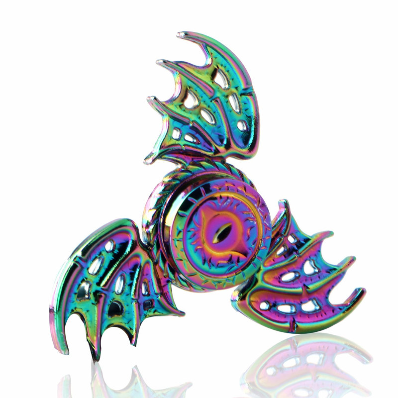 Three Leaf Dragon Colorful Fidget Spinner EDC Hand Spinners Autism ADHD Kids Christmas Gifts Metal Finger Toys Spinners