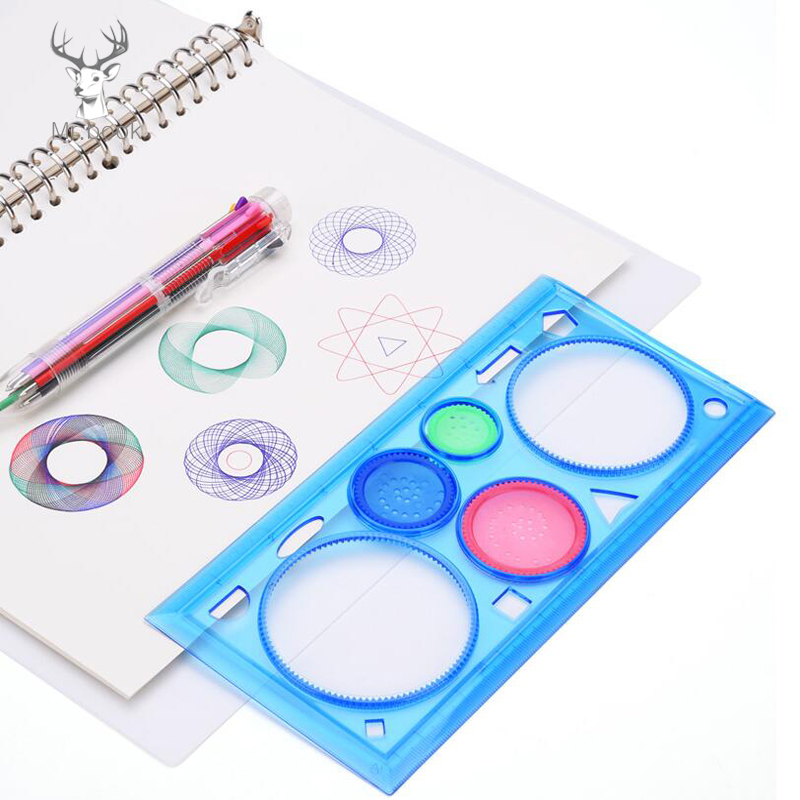 Painting Multi-function Puzzle Spirograph Geometric Ruler Drafting Tools For Students Drawing Toys Children Learning Art Tools