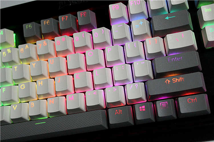 Detail Feedback Questions about 8 keys PBT Double Backlit Additions