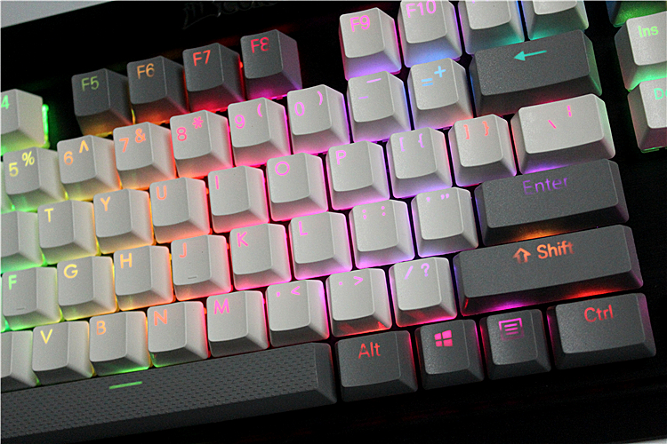 108/87 keys Translucidus Backlight  PBT  Keycap For Corsair STRAFE K65 K70 Logitech G710+ Wired USB mechanical  Keyboard Keycap