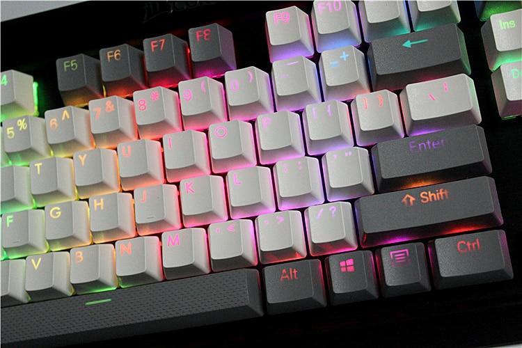 MP 108/87 Keys Translucidus Backlight PBT Keycap For Corsair STRAFE K65 K70 Logitech G710+ Wired USB Mechanical  Keyboard Keycap