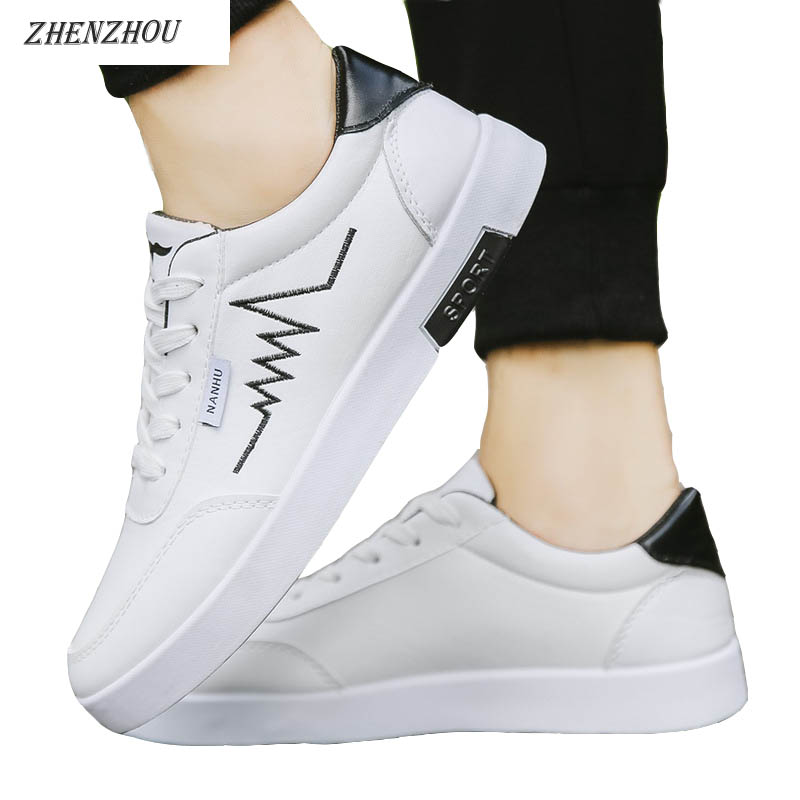Free shipping 2018 Summer Korean version of the trend of white shoes wear shoes men's wild casual shoes white shoes