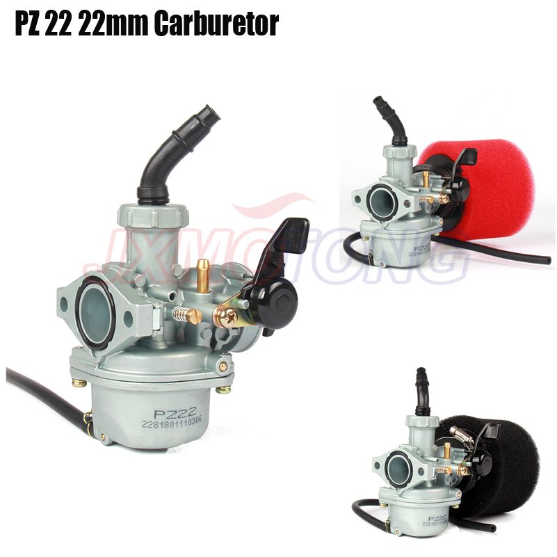 Motor PZ22 22mm carburador y 38mm filtro de aire para Park 125cc KAYO Apollo Bosuer xmotos Kandi/polvo/ las bicicletas de hoyo mono motos ATV