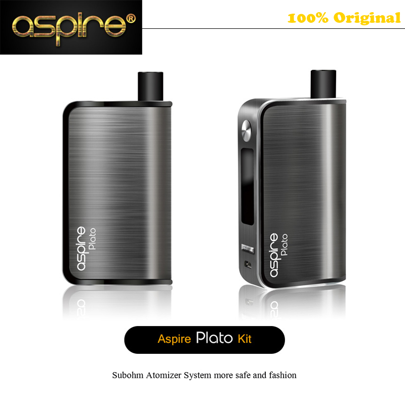 2500mah Battery Aspire Plato Kit TC MOD Box 4.6ml Hidden Subohm Atomizer no leak E-liquid Electronic Cigaretts Aspire MOD Kit original ijoy captain pd1865 tc 225w kit captain tank 4ml atomizer no 18650 battery captain pd1865 mod e cigarette vaping kit