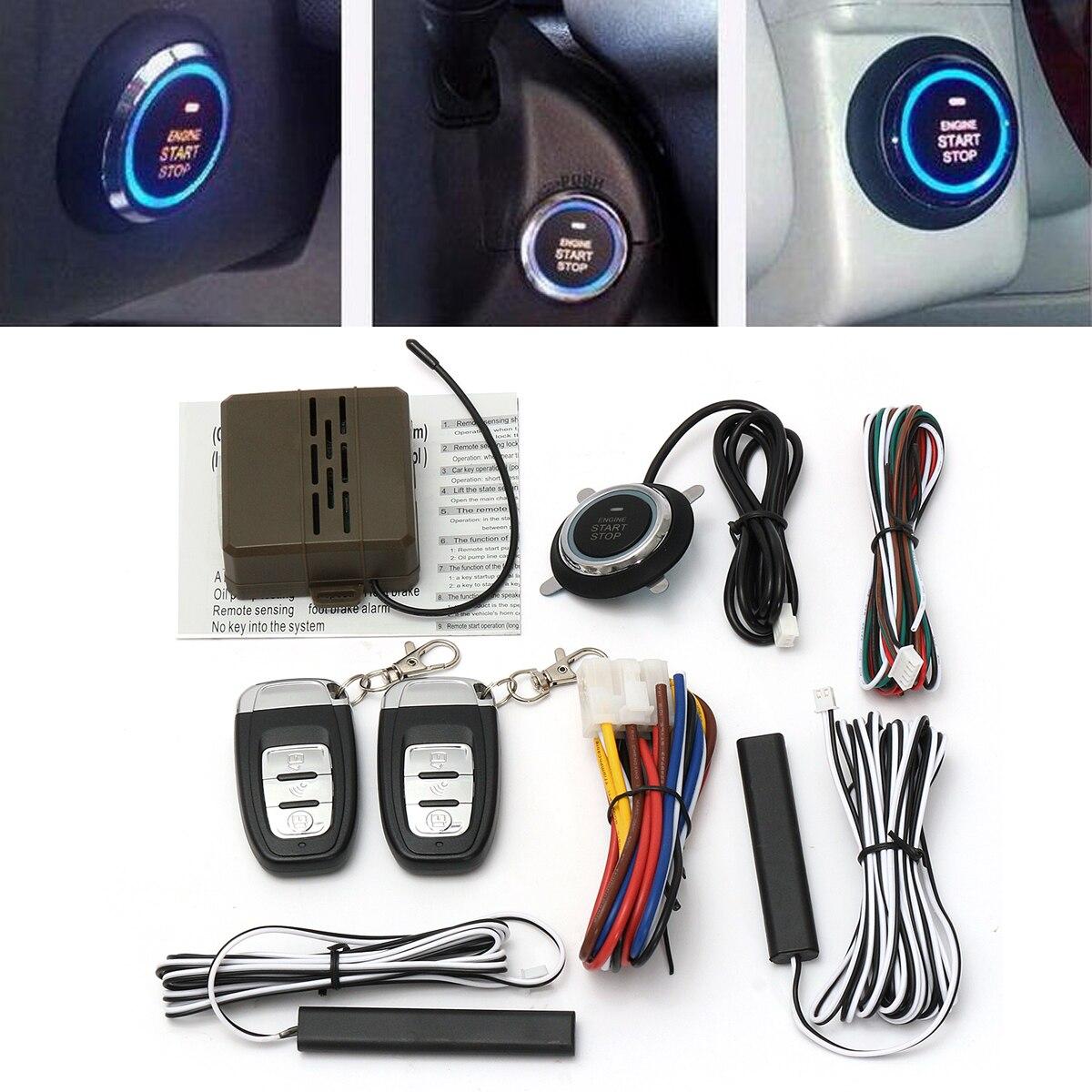 Kroak muplaifuntion Smart E modèles télécommande alarme de voiture démarrage système d'entrée sans clé bouton poussoir démarrage arrêt système - 2