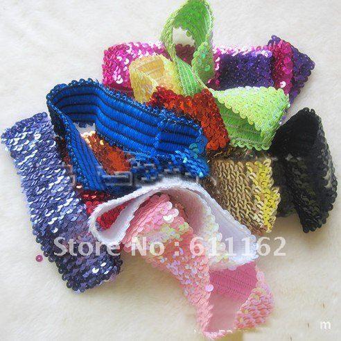 400 шт., яркий головной свет, лента для волос, пять рядов 12 цветов, для девочек, эластичная застежка-молния, 12 разных цветов