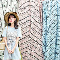 Платье из шифонового шелка в полоску с цветочным рисунком летняя юбка ткань мягкая дышащая DIY ткань для пэчворка ткань для блузок