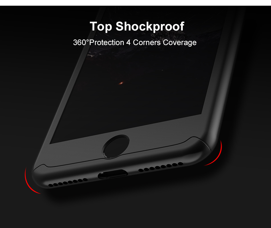 FLOVEME Luxury 360 Full Case For iPhone 7 7 Plus Glass Film Phone Accessories For iPhone 6 6S Plus Xiaomi Mi 6 Huawe P 10 Covers (6)