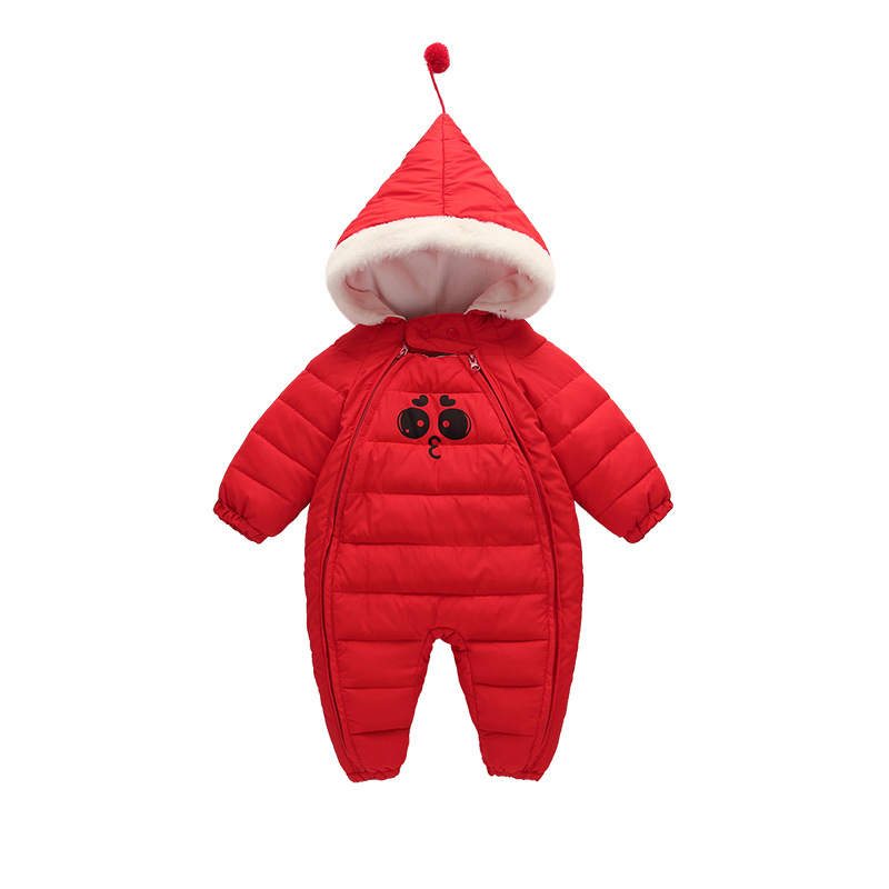 купить Baby Boy Girl Clothes New Born Winter Hooded Rompers Thick Cotton Outfit Newborn Jumpsuit Children Costume Toddler Romper CA464 по цене 2507.75 рублей