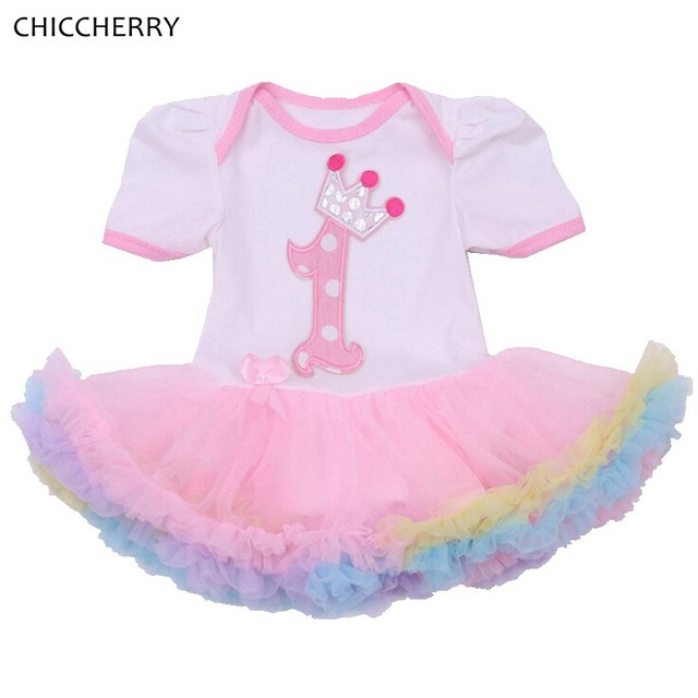 6075525dc8248 White Crown Princess 1 Year Baby Birthday Dress Classic Infant Lace Tutu  Party Outfits Vestidos De Bebe Toddler Girl Clothes-in Dresses from Mother  & ...