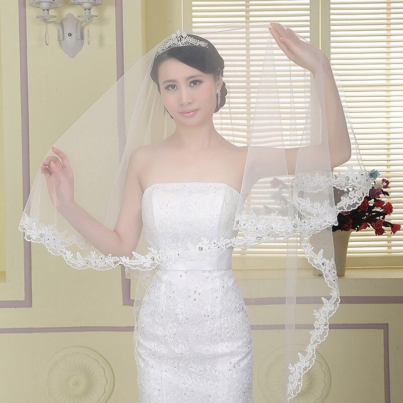 Simple Wedding Dress Accessories : Dresstells wedding veil accessories white cheap