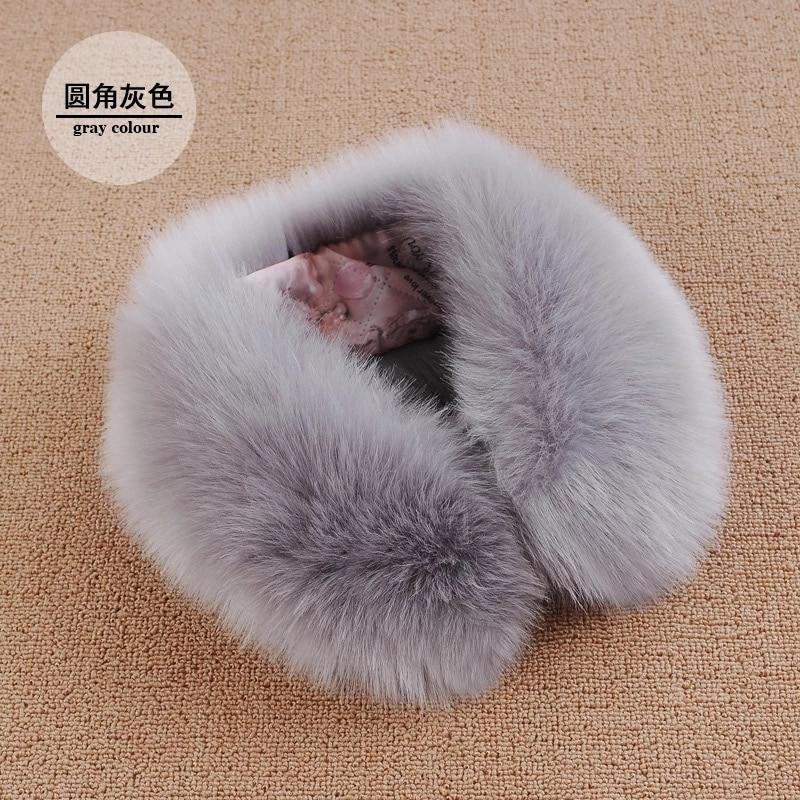 MIARA L black lace beaded choker Fur heavy hair colla fox fur detachable collar winter women clothing accessories sweet collar