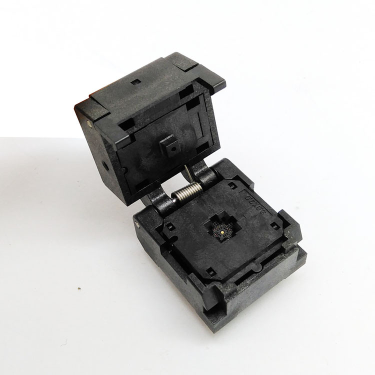 QFN20 MLF20 WLCSP20 Burn in Socket Adapter Pitch 0.4mm IC Body Size 3x3mm IC549-0204-005-G Clamshell Test SocketQFN20 MLF20 WLCSP20 Burn in Socket Adapter Pitch 0.4mm IC Body Size 3x3mm IC549-0204-005-G Clamshell Test Socket