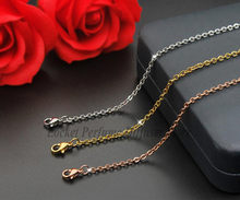 Titanium steel necklace Flat cross chain Plated Rose gold silver stainless steel chain women necklace Jewelry Making XL020(China)