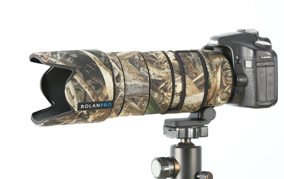 Manteau d'objectif ROLANPRO housse de pluie Camouflage pour Tamron SP 70-200mm F/2.8 DI VC USD G2 A025 manchon de Protection d'objectif d'appareil photo