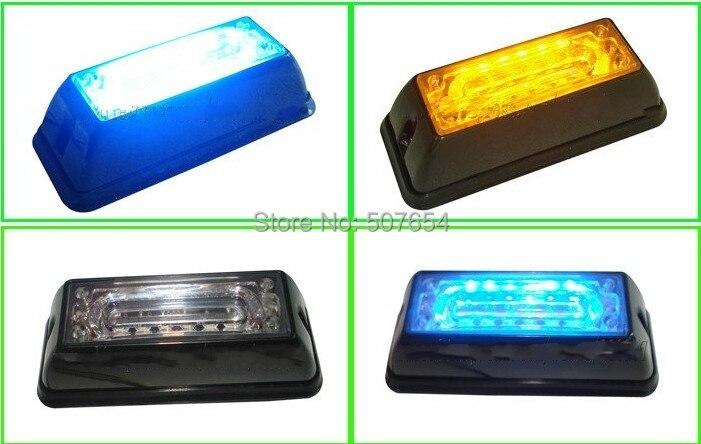 ФОТО High quality 6W LED car surface mounting Emergency lights,Strobe lighthead,Grill warning lights,18 flash,watrproof IP67