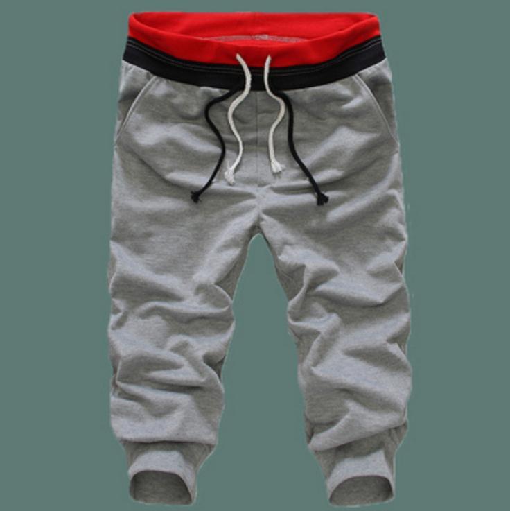 Hot 2019 Outdoor Summer Sport Running Jogger Jogging GYM Training Fitness basketball Elastic waist Capri Running Pants homme in Running Pants from Sports Entertainment