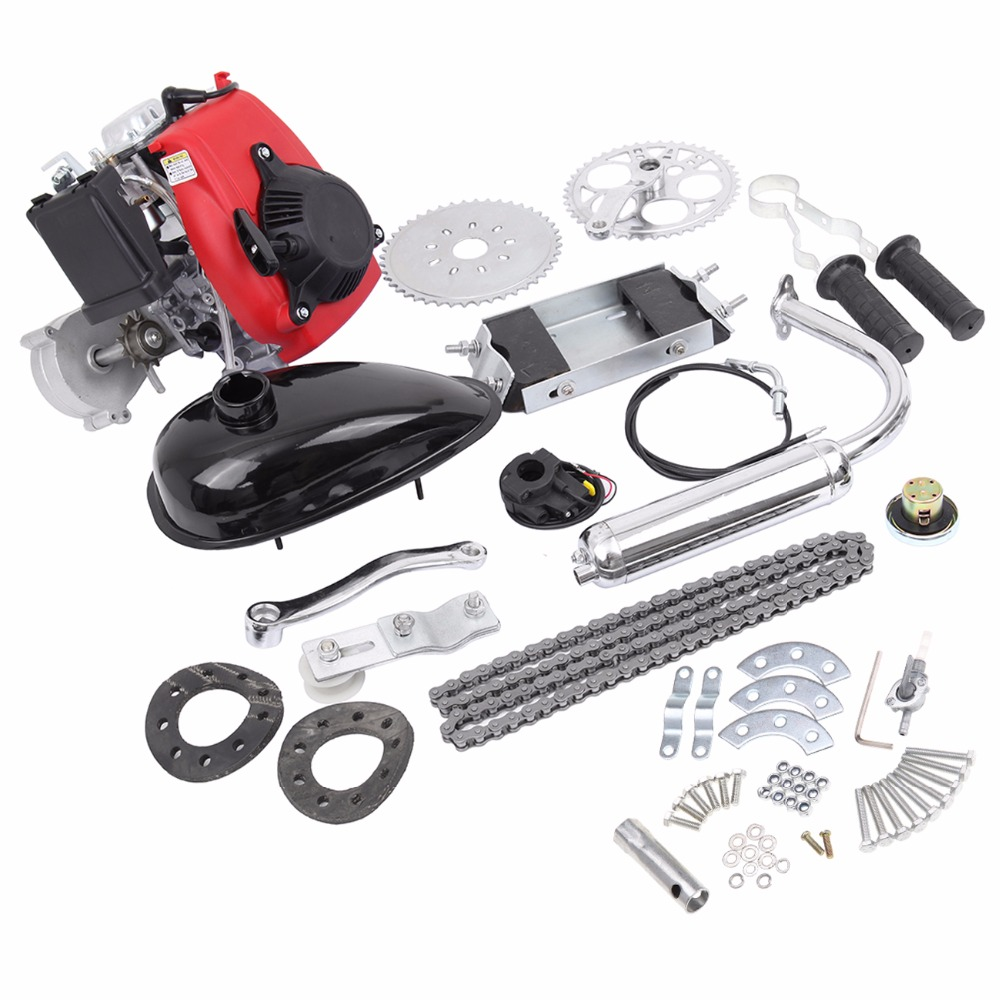 (Ship from EU) 49cc 4-Stroke Cycle Engine Motor Kit Motorized Bike Petrol Gas Bicycle Scooter ship from usa 2 stroke 80cc motor blike bicycle engine kits gas bike kit c80 with suitable price