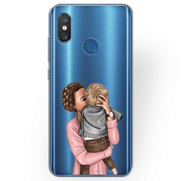 Moda Black Brown Mãe Do Bebê Da Menina Do Cabelo Rainha Mulher Casos Capa Mole Para Huawei P8Lite 2017 P9 01 P10 Lite p20Pro Companheiro 10 20 Pro