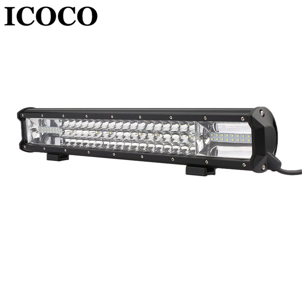 ICOCO 270W 90 LEDs Bar Working Light Flood Spot Combo Beam Car Lamp for Off Road Car Truck Boat Work Bulb Waterproof Drop Ship 2pcs set square 27w car led work light 30 degree spot lamp for working driving off road spot light boat suv truck car