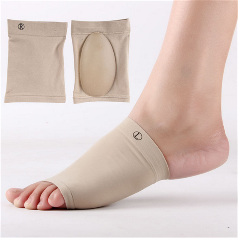 1Pair Gel Plantar Fasciitis Arch Support Sleeve Arch Socks Heel Cushion Flat Foot Orthopedic Shoe Pad Foot Care