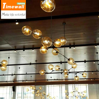 Post Modern Minimalist Pendant Glass Bubble Molecular Lamp Designer Personality Art Restaurant Living Room Ceiling Lamp