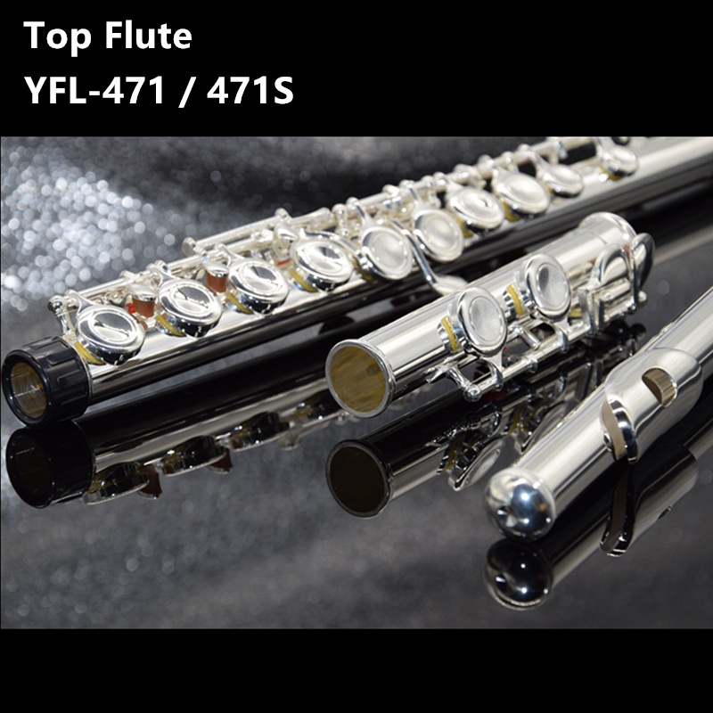 Hot selling Japan flute YFL 471 16 Holes Silver Plated Transverse Flauta obturator C Key with E key music instrument  DiziHot selling Japan flute YFL 471 16 Holes Silver Plated Transverse Flauta obturator C Key with E key music instrument  Dizi