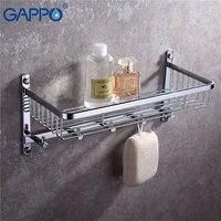 GAPPO bathroom shelves toilet holders shelf wall mounted bath hardware accessories hanging storage rack