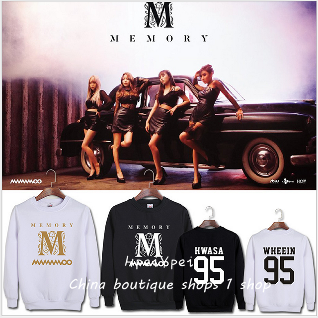 MAMAMOO case kpop album MEMORY son Hui surrounding support with a loose  collar hoodie harajuku kawaii hip hop-in Hoodies & Sweatshirts from Women's