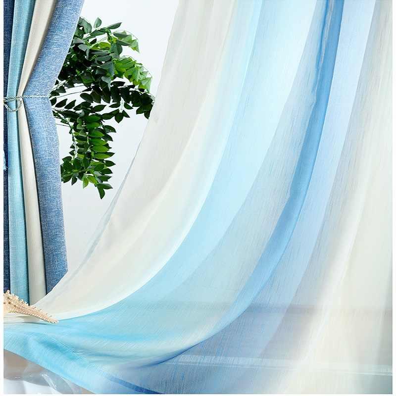 Blu A Strisce Stampato Tende Oscuranti per Soggiorno Moderna tenda di Finestra Tende per Sposato Studio Camera Camera Dei Bambini Cortinas rideaux