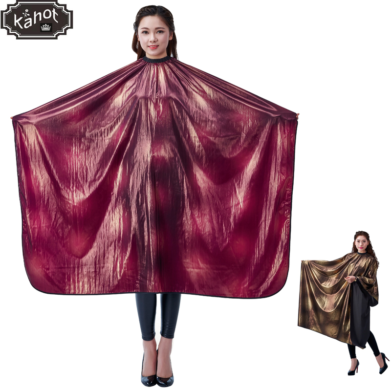 1pcs Professional Hairdressing Apron Hair Cutting Wanny Silk High Quality Cape Barber Styling Salon Camps Hairdresser Wrap Cloth salon professional hair styling cape adult hair cutting coloring styling cape hairdresser wai cloth barber fashion pattern capes